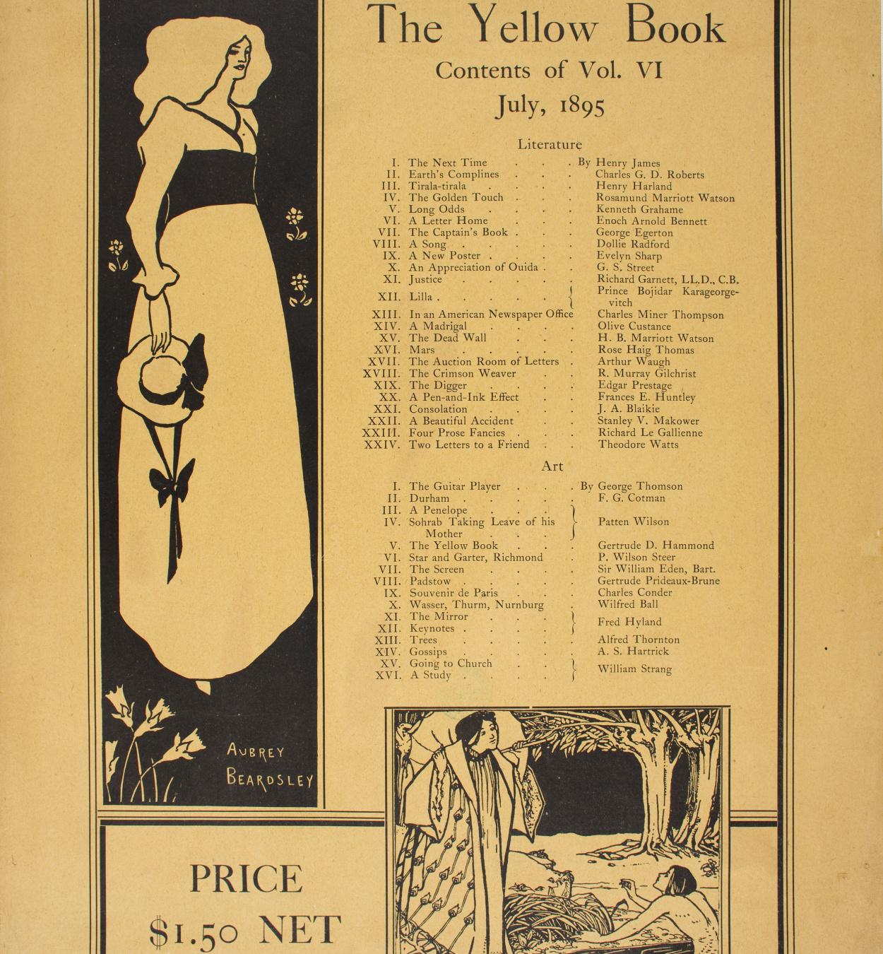 Aubrey Vincent Beardsley - The Yellow Book (July 1895) - 1895