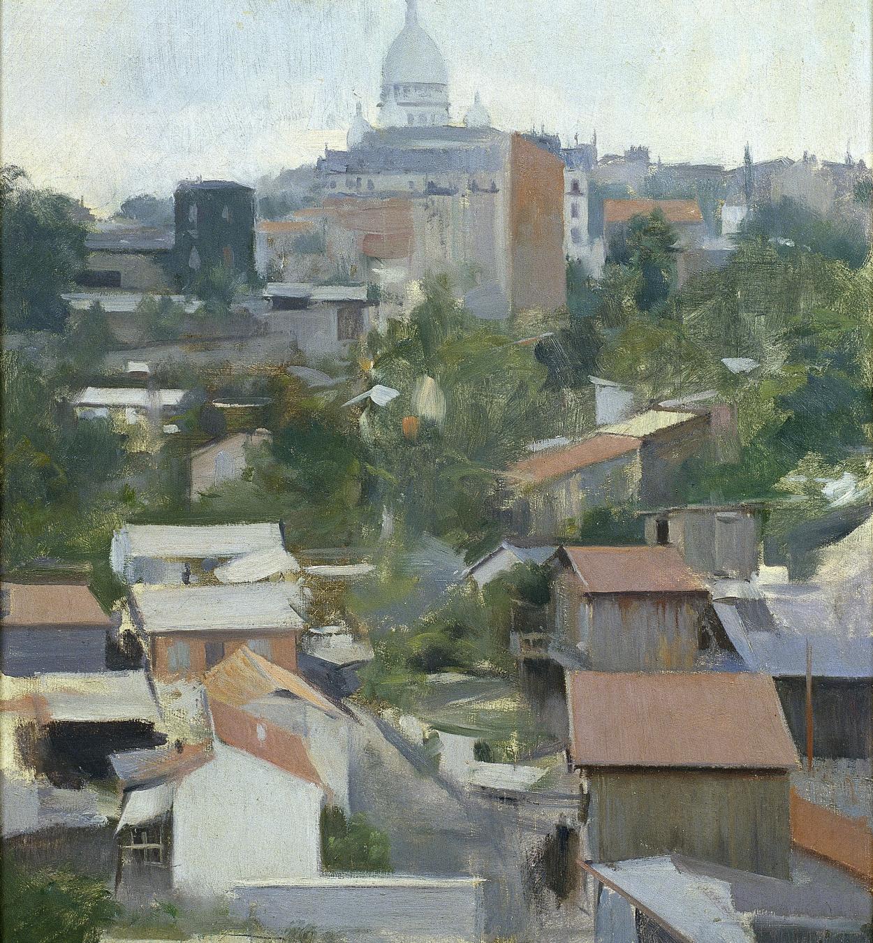 Ramon Casas - Le Sacré Coeur, Montmartre - París, hacia 1900