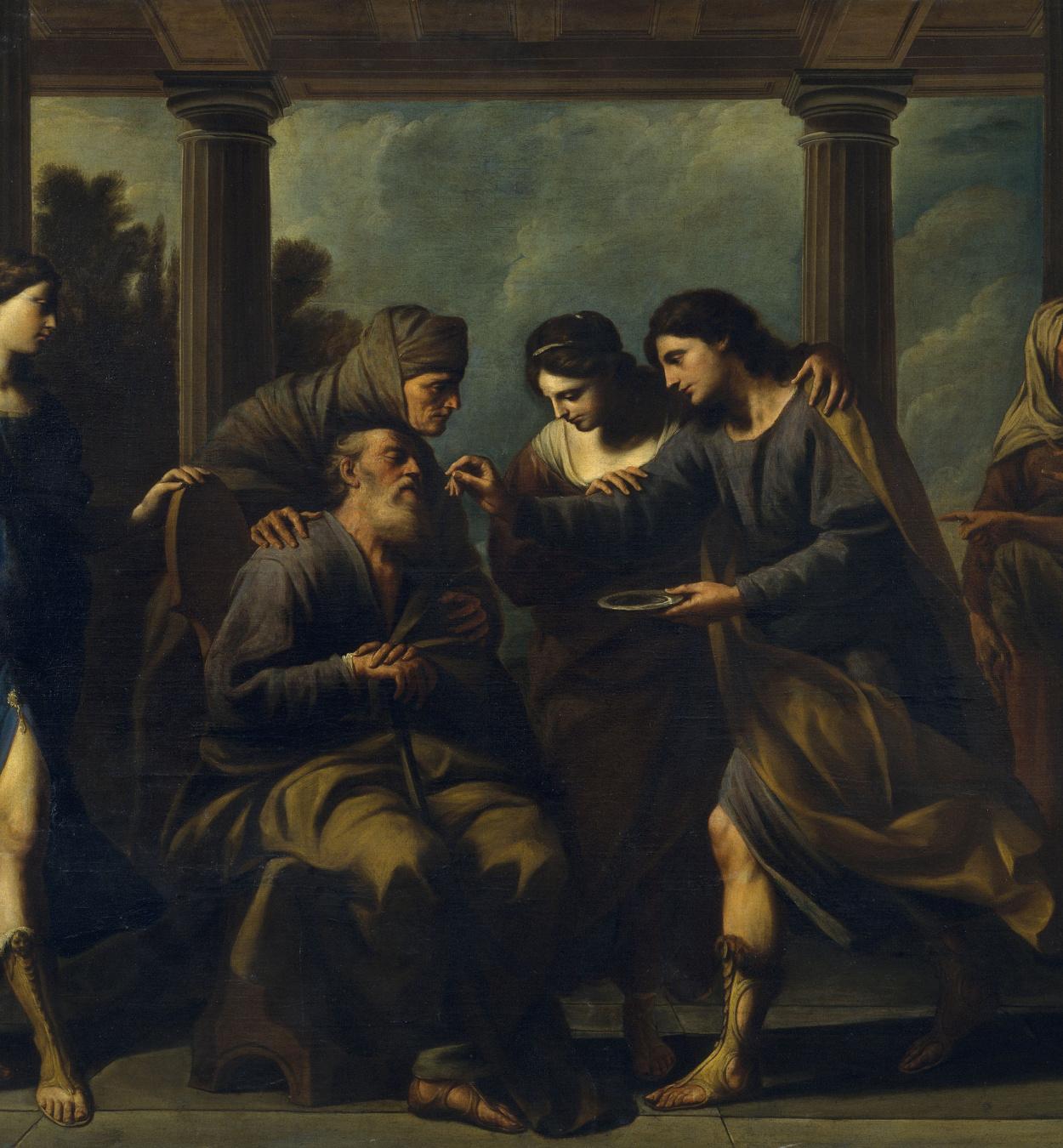 Andrea Vaccaro - Tobies cura la ceguesa del seu pare - 1667