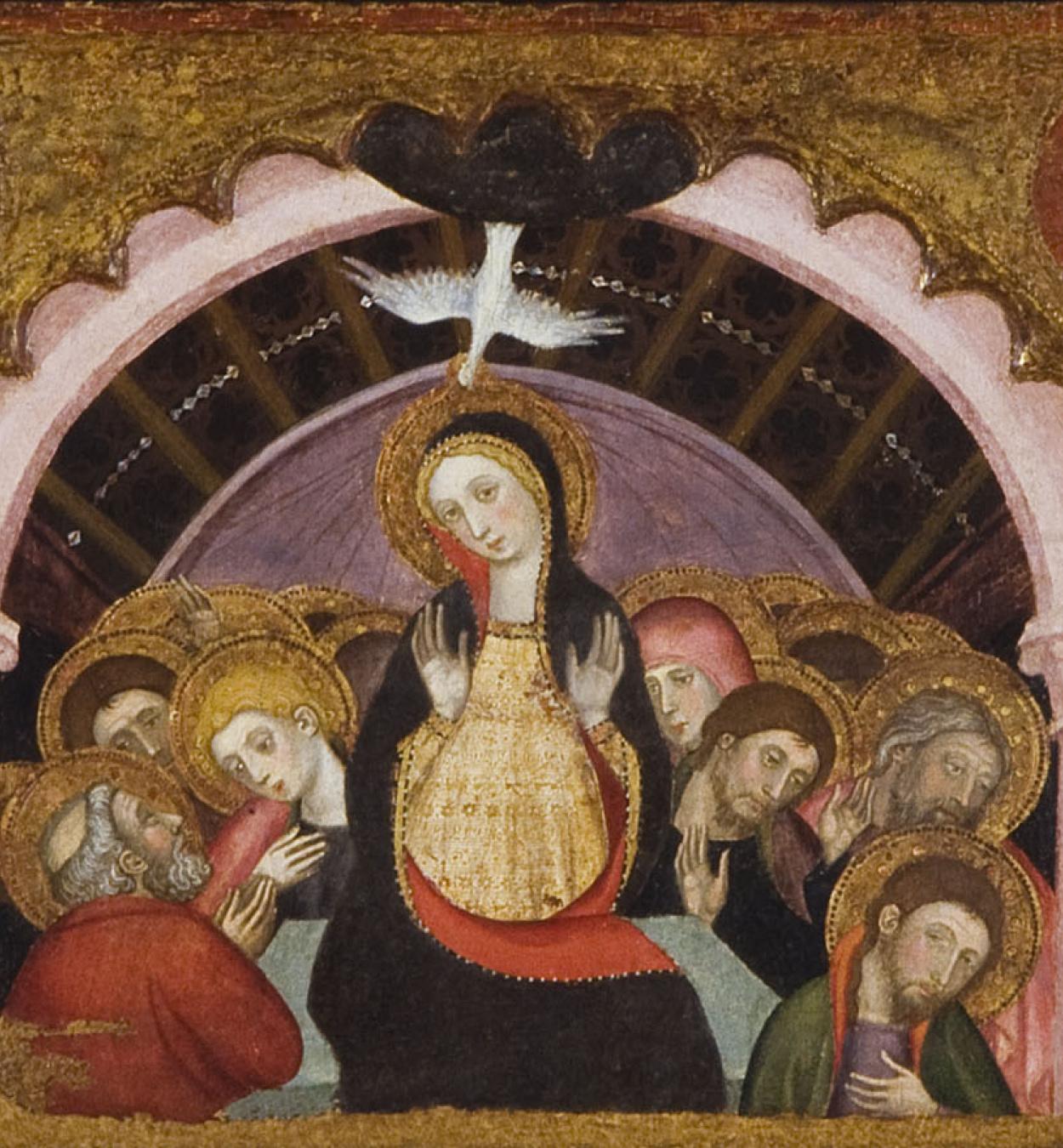 Pere Serra - Ascension; Pentecost; Coronation of the Virgin - Circa 1400