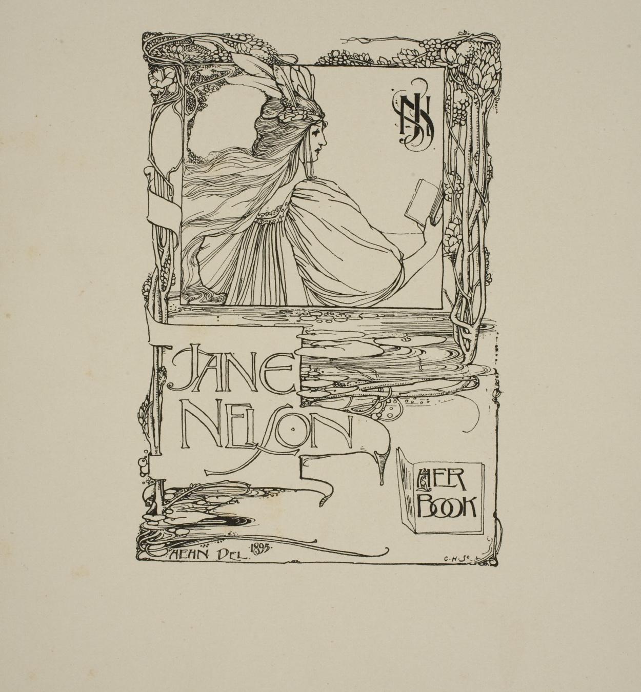 Harold E.H. Nelson - Ex-libris Jane Nelson - 1895