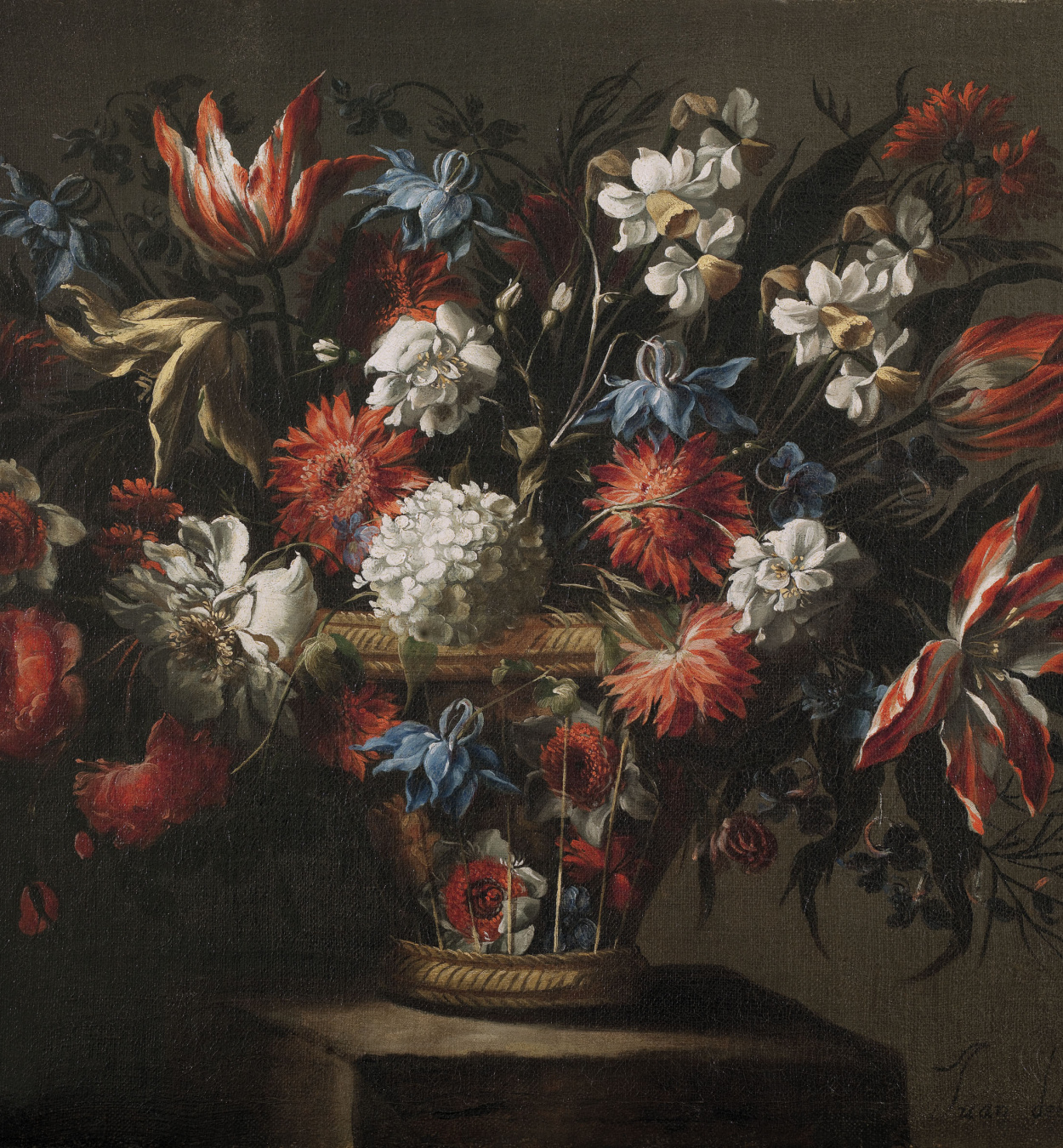 Juan de Arellano - Basket of flowers - Circa 1670