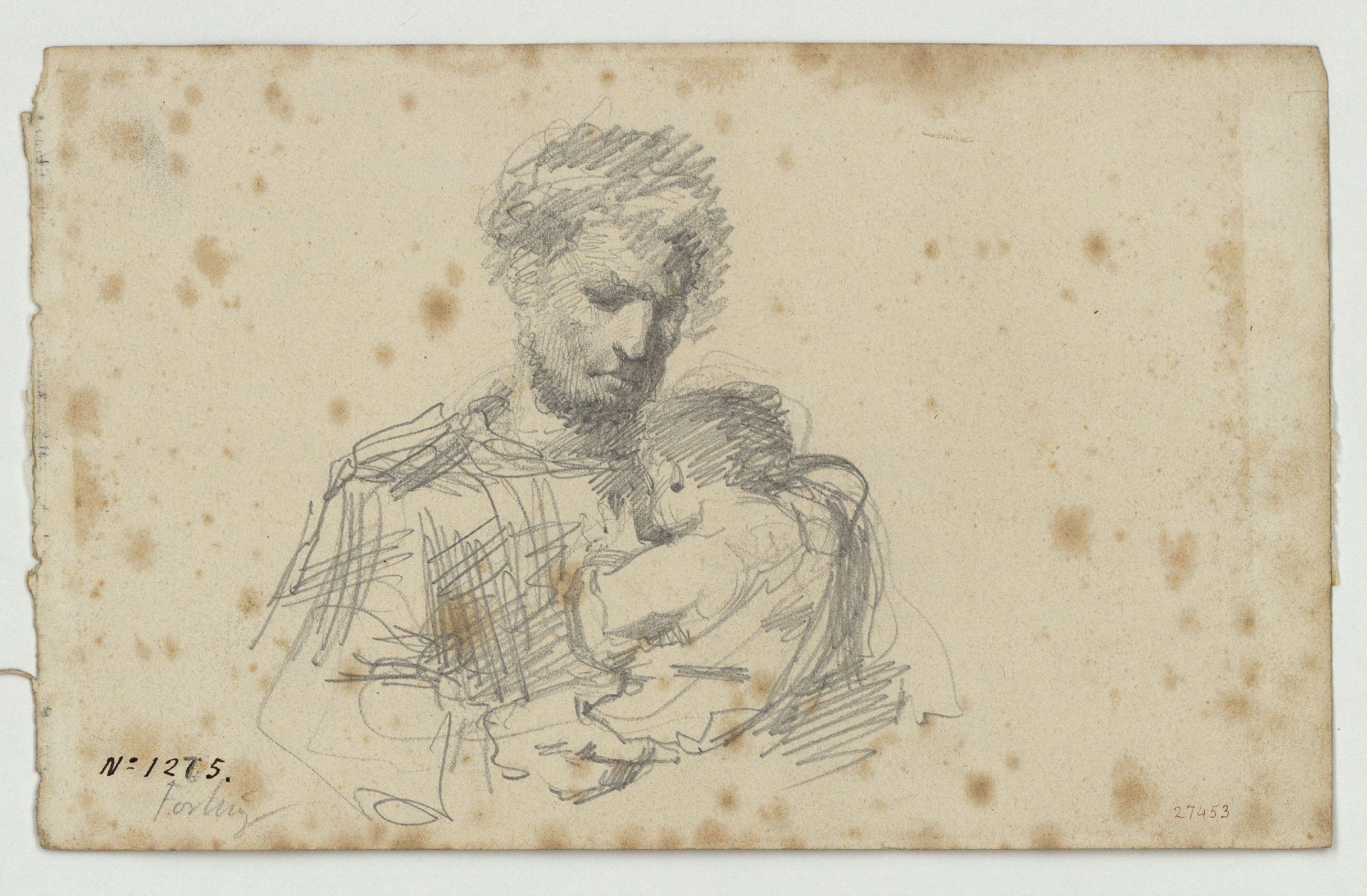 Marià Fortuny - Home amb nen - Cap a 1856-1858