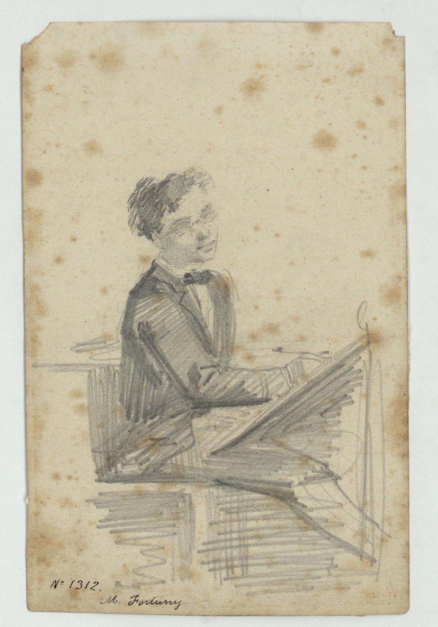 Marià Fortuny - En Torrens gravador - Cap a 1856-1858