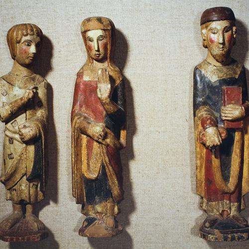 Anònim - Conjunt d'imatges de Santa Maria de les Omedes - Segona meitat del segle XIII