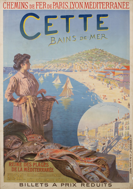 Toussaint Roussy - Cette Bains de mer - Anterior a 1903