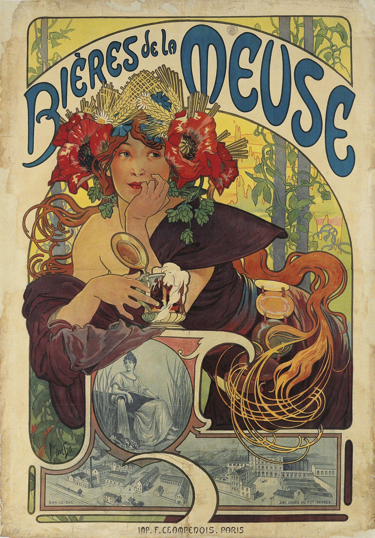 Alphonse-Marie Mucha - Bières de la Meuse - 1897