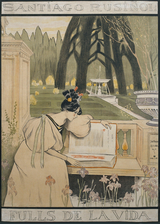 Santiago Rusiñol - Fulls de la vida - 1898