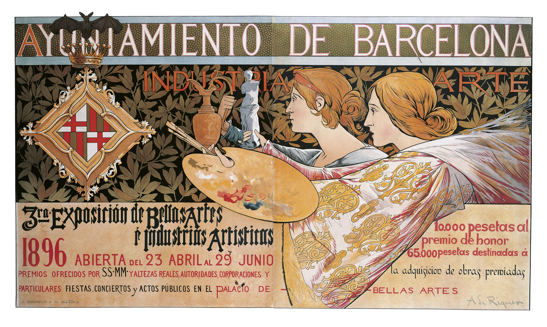 Alexandre de Riquer - 3ra. Exposición de Bellas Artes é Industrias Artísticas - 1896
