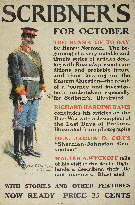 Howard Chandler Christy - Scribner's for October - 1899. Published in New York at 1900