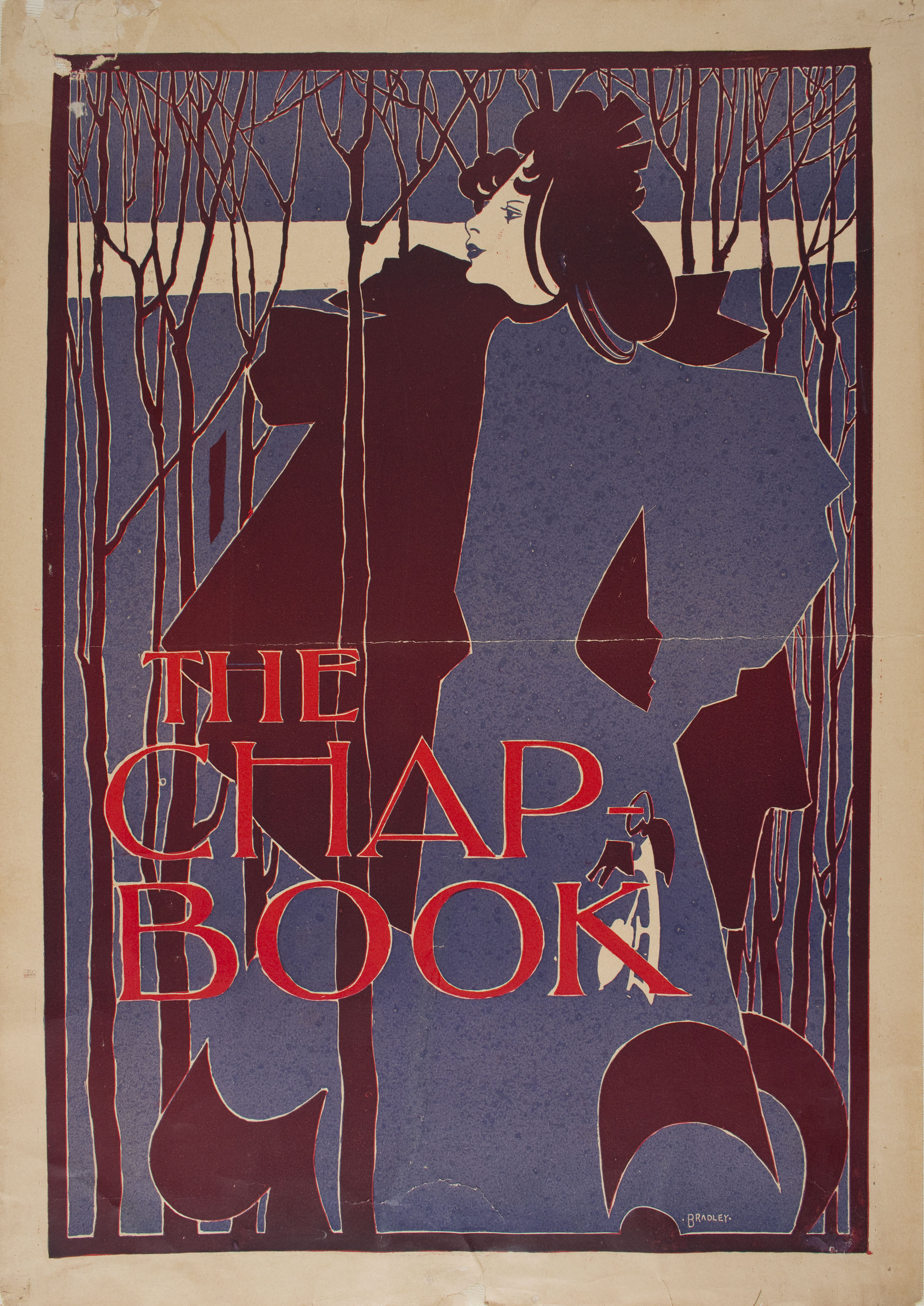 William Henry Bradley - The Chap Book (The Blue Lady) - 1895