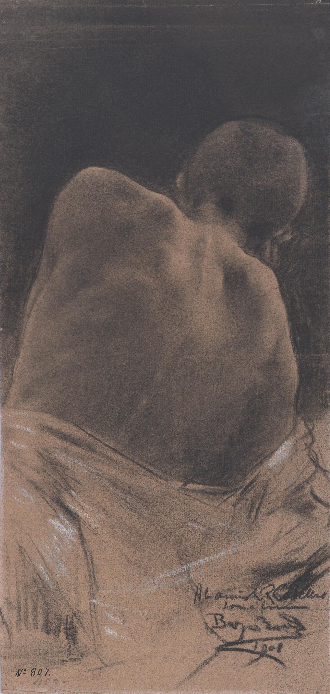 Josep Berga Boada - Estudio de figura masculina - 1901