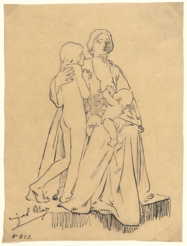 Miquel Blay - La Caritat, estudi per a l'escultura del panteó de Joaquín María de Errazu al cementiri de Père Lachaise (París) - 1898