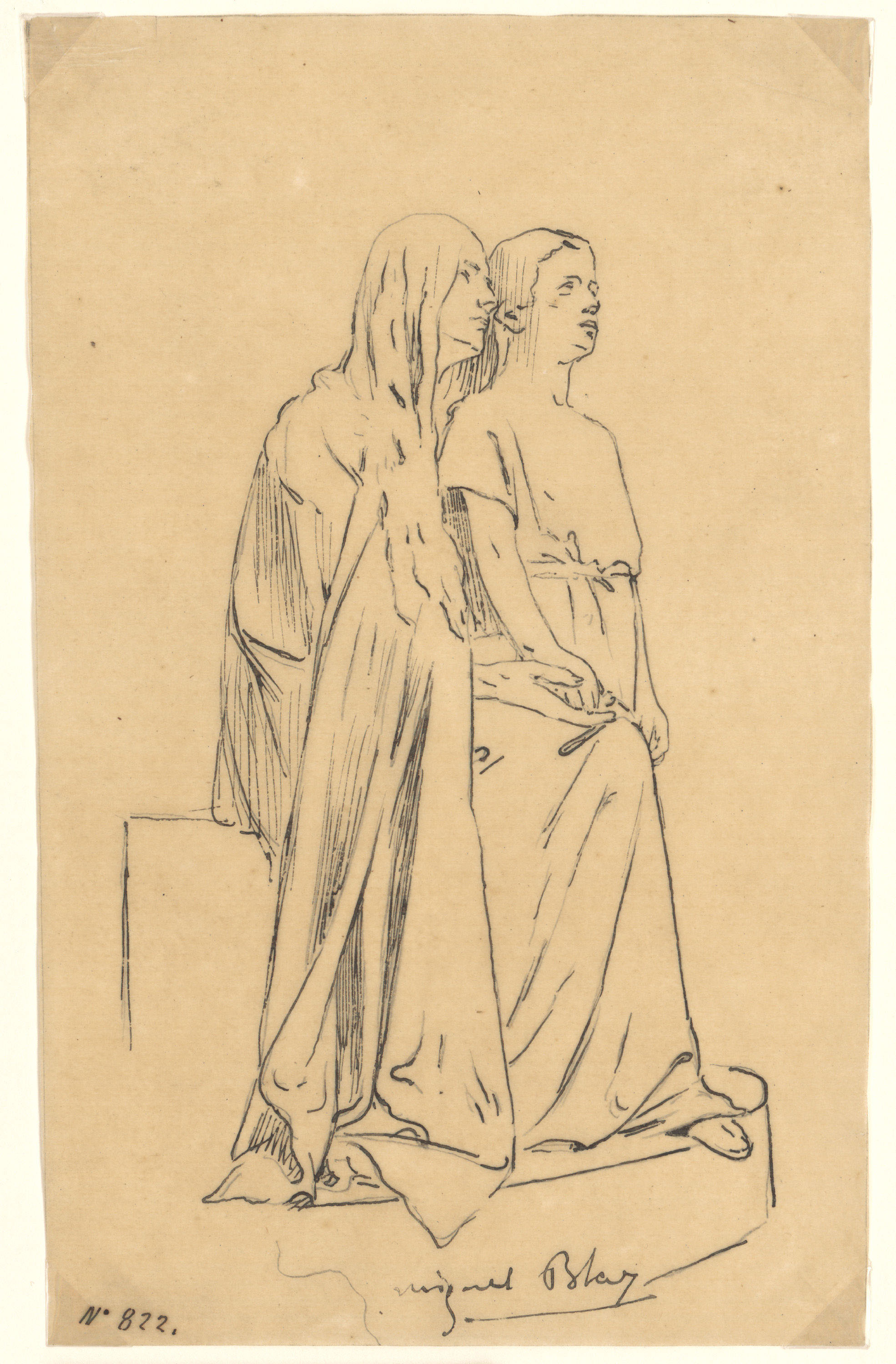 Miquel Blay - Faith or The Believers, study for the sculpture of the tomb of Joaquín María de Errazu at the Père Lachaise cemetery (Paris) - 1898