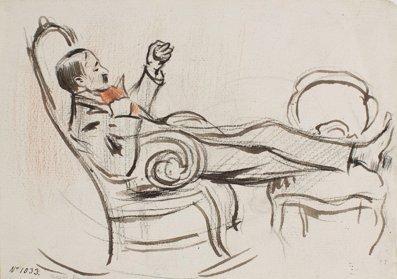 Ramon Casas - Miquel Utrillo resting - Circa 1898