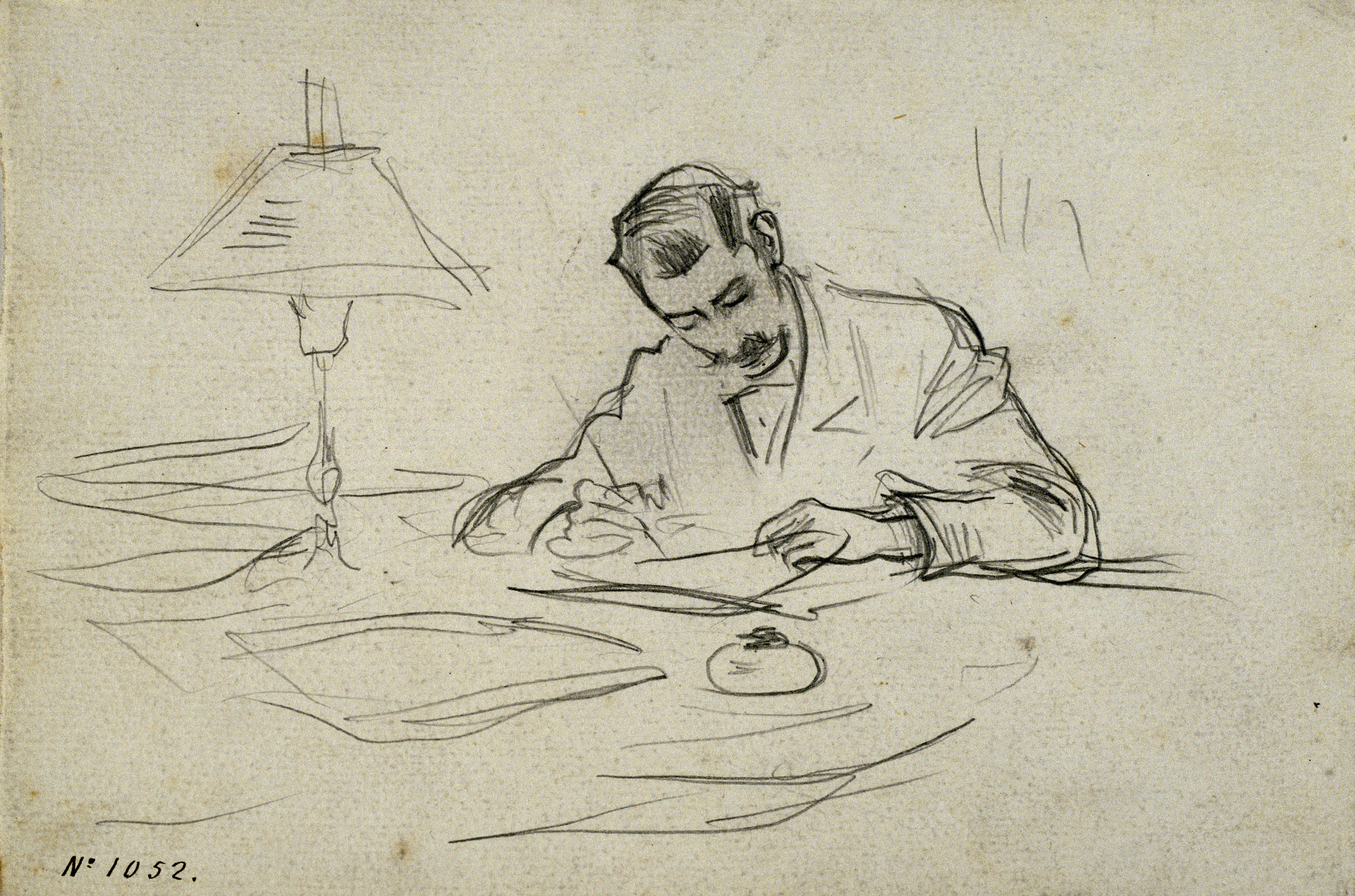 Ramon Casas - Miquel Utrillo writing - Circa 1898