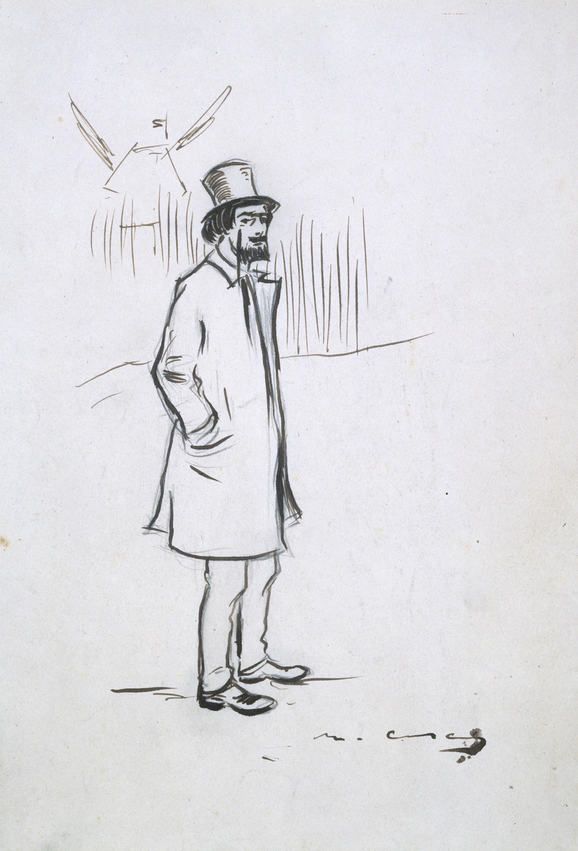 Ramon Casas - Estudi per al quadre «Retrat d'Erik Satie» - Cap a 1891