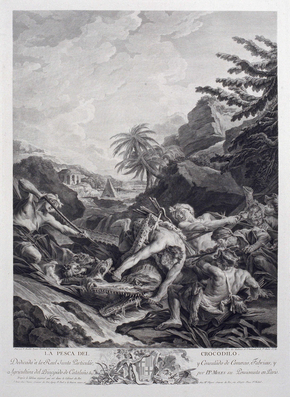 Pasqual Pere Moles Corones - La caça del cocodril - 1774