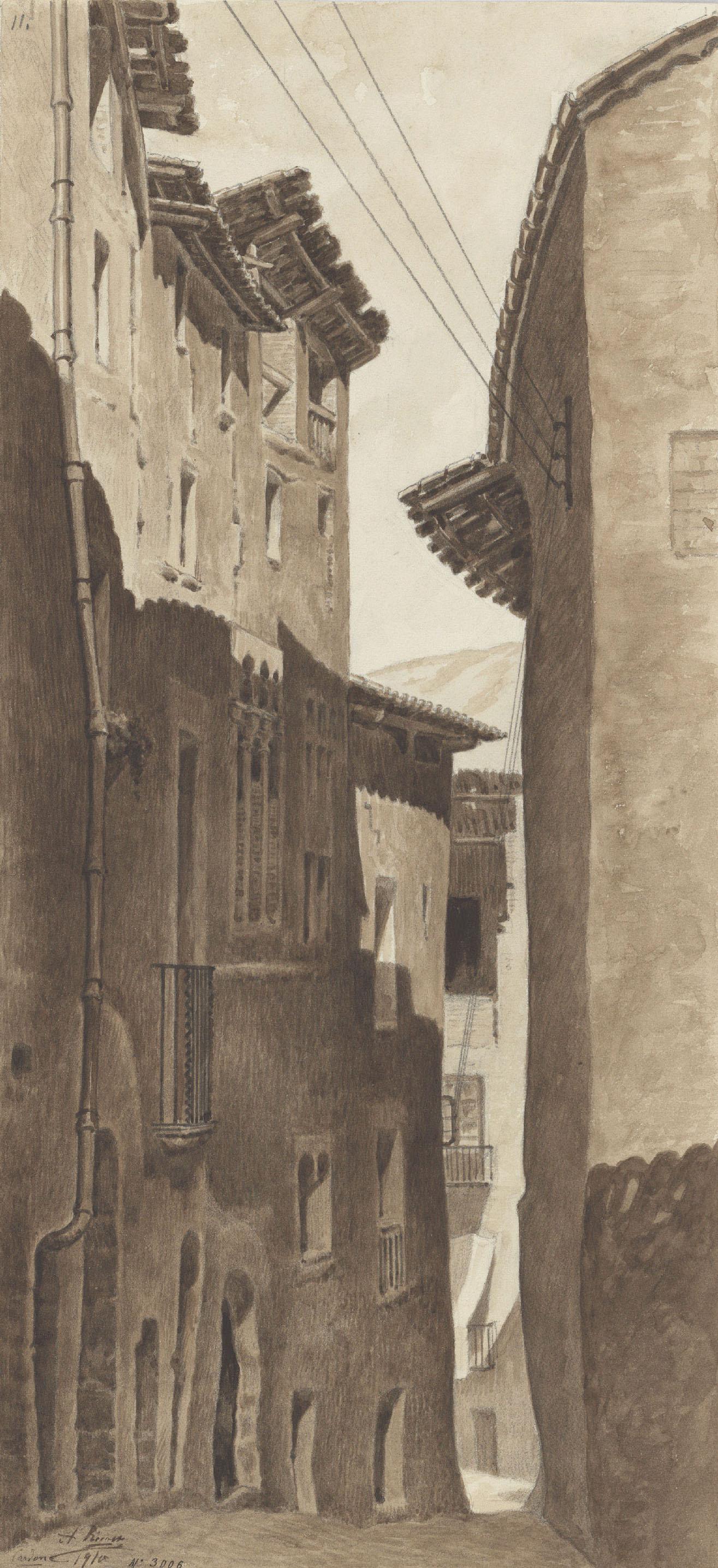Antoni Rigalt - Un carrer de Cardona - Cardona, 1910
