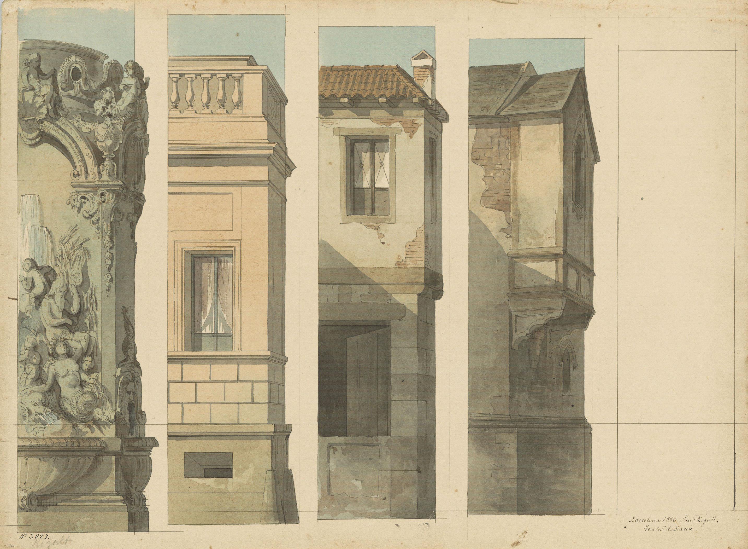 Lluís Rigalt - Arquitectures (escenografia) - 1850