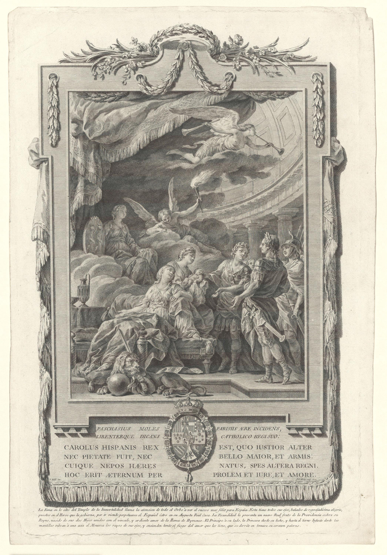 Pasqual Pere Moles Corones - Al·legoria del naixement de l'infant Carles Climent - 1771