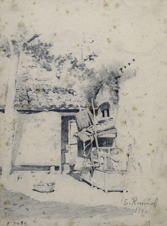 Santiago Rusiñol - Pati rústic - 1880