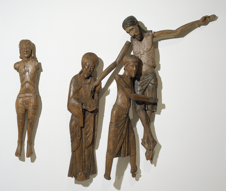 Anònim - Figures del Davallament de Santa Maria de Taüll - Segona meitat del segle XII – segle XIII