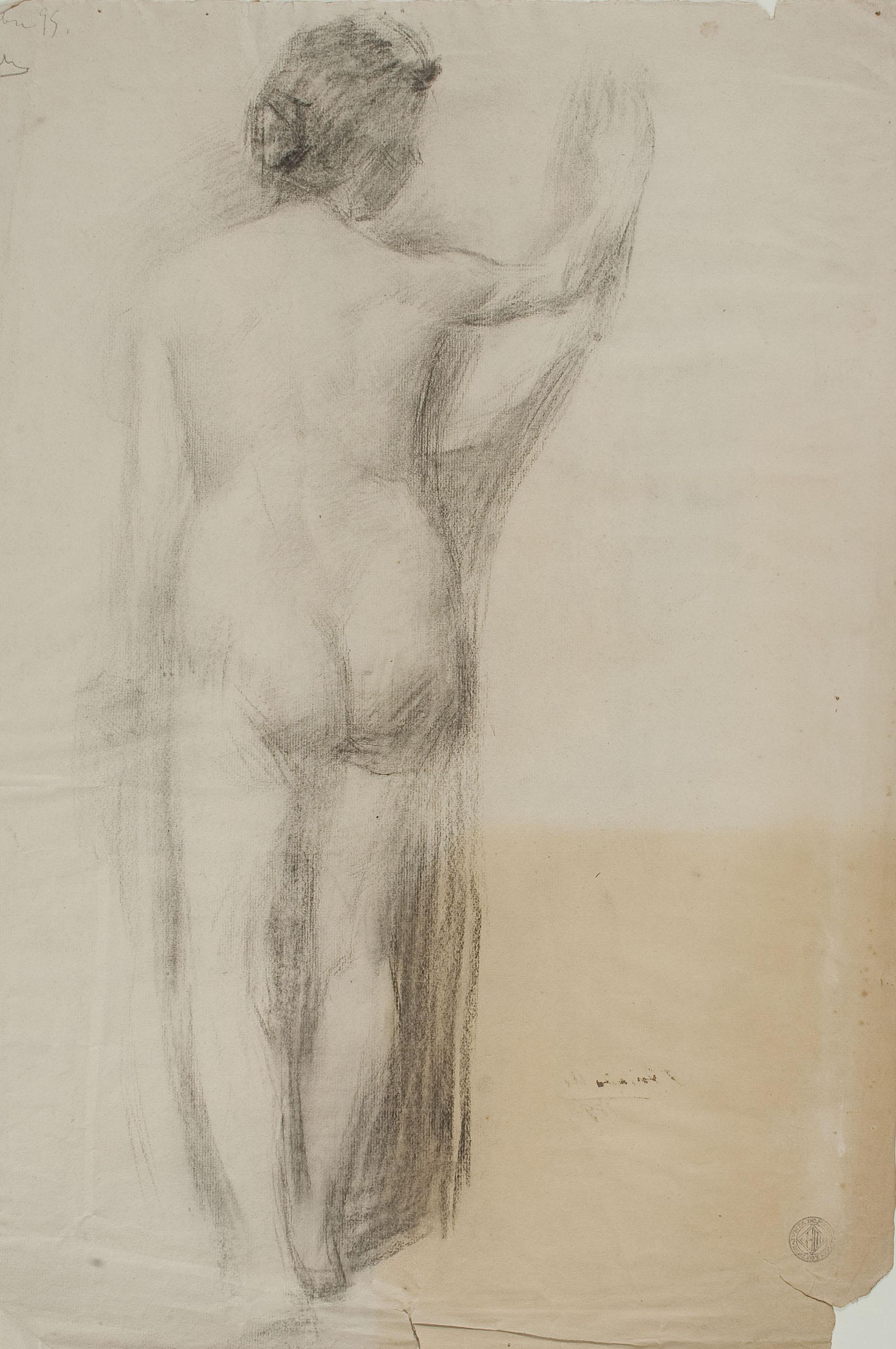 Josep Triadó - Nu masculí (anvers) / Nu femení d'esquena (revers) - 1896 [1]