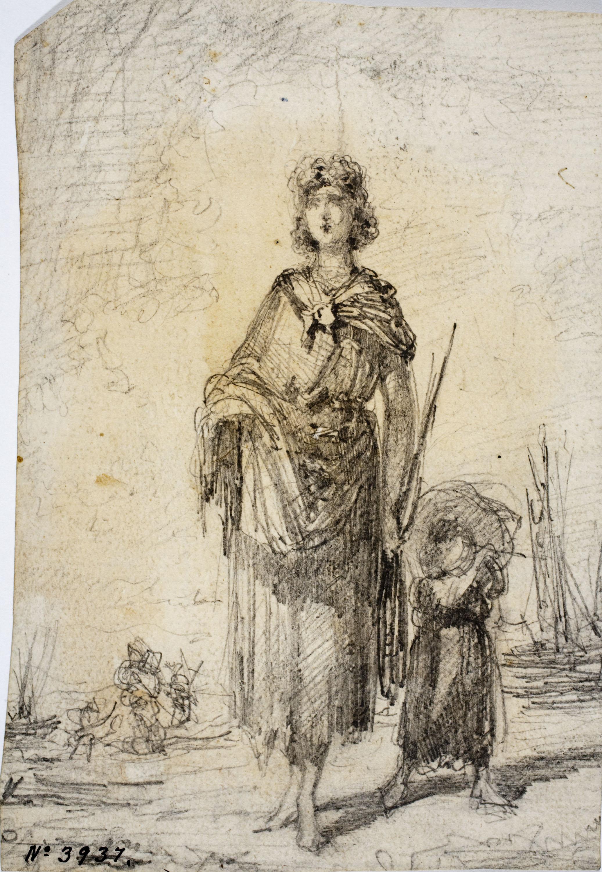 Modest Urgell - Graziella (anvers) / Apunts diversos (revers) - Cap a 1861-1888