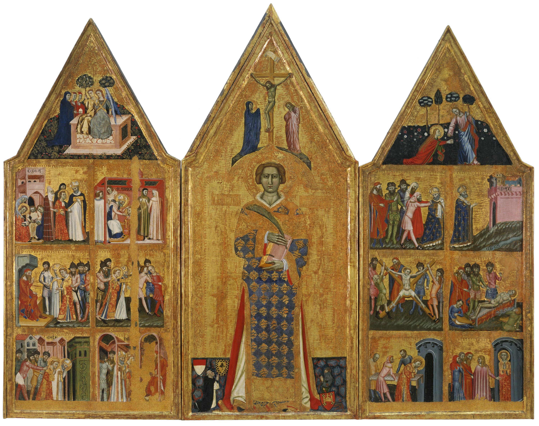 Mestre d'Estopanyà - Retaule de sant Vicenç - Cap a 1350-1370