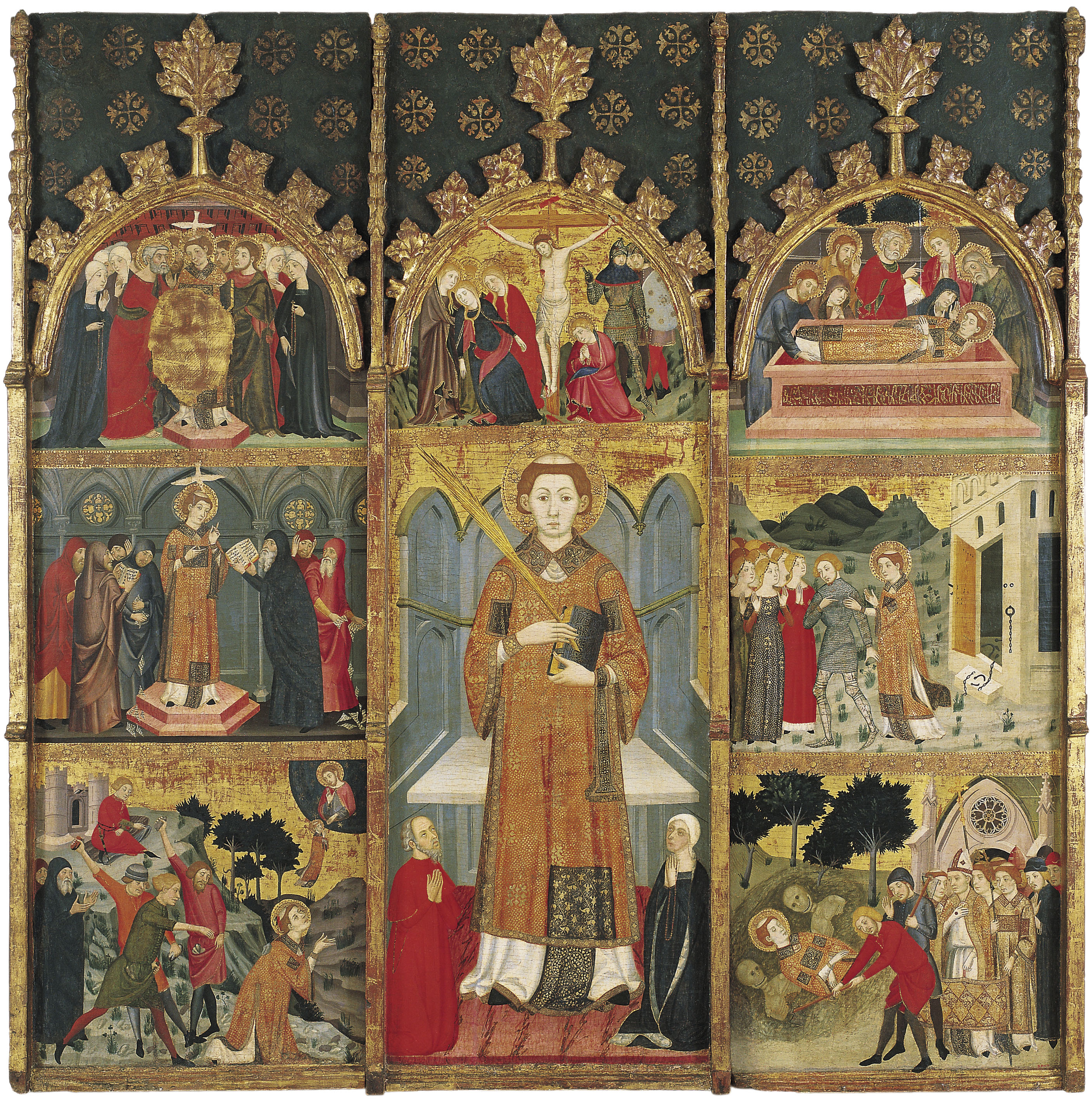 Jaume Serra - Retaule de sant Esteve - Cap a 1385