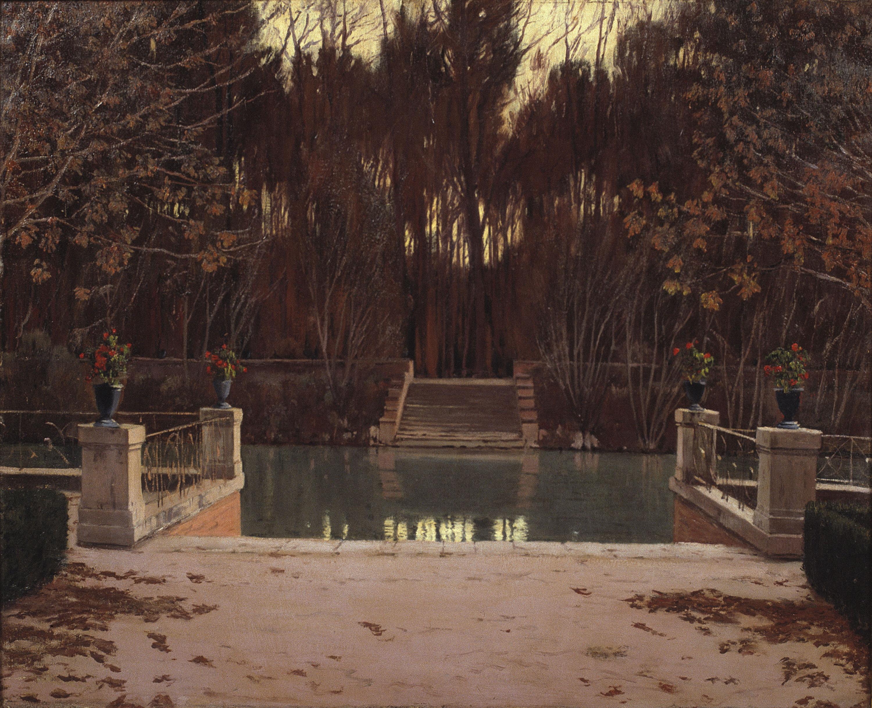 Santiago Rusiñol - L'embarcador - Aranjuez, 1911