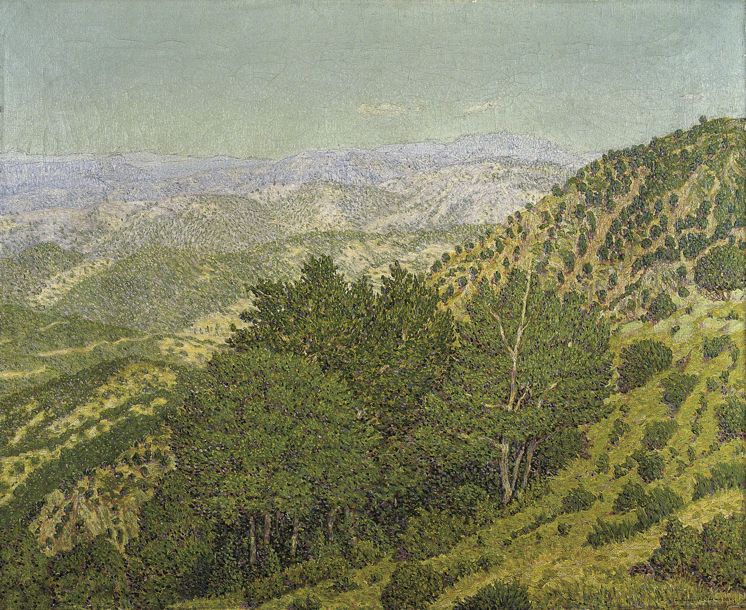 Marià Pidelaserra - Muntanyes des del Montseny. Dia serè al matí - Barcelona, 1903