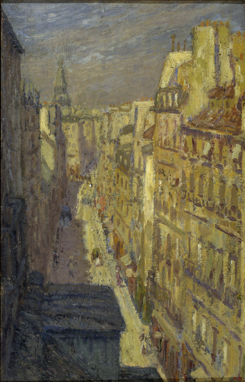 Marià Pidelaserra - Una calle de París (Sol de invierno) - París, 1900