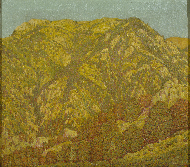 Marià Pidelaserra - Una montaña. Montseny. Sol poniéndose - 1903
