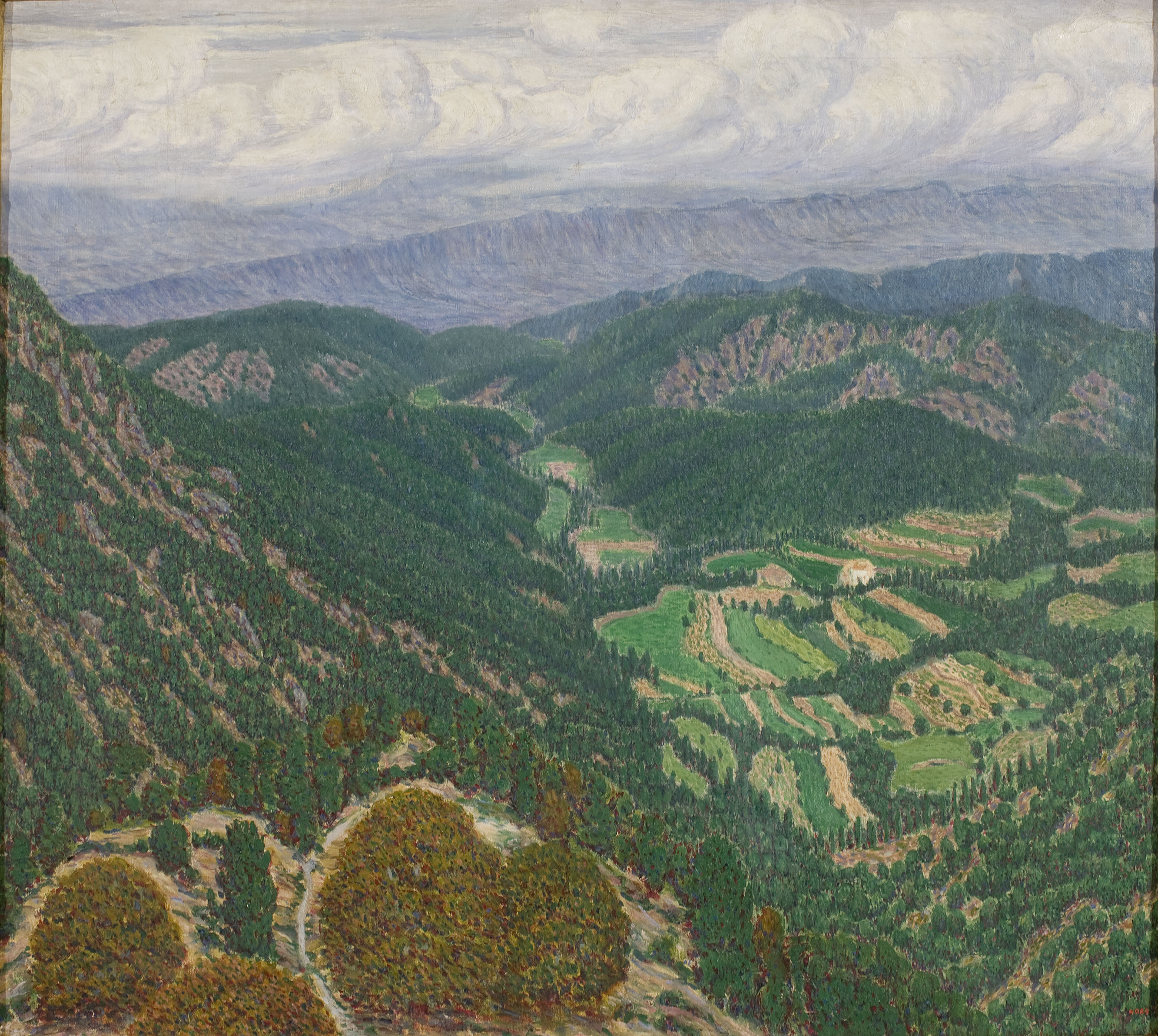 Marià Pidelaserra - Les Guilleries Seen from the Montseny. After a Storm - 1903