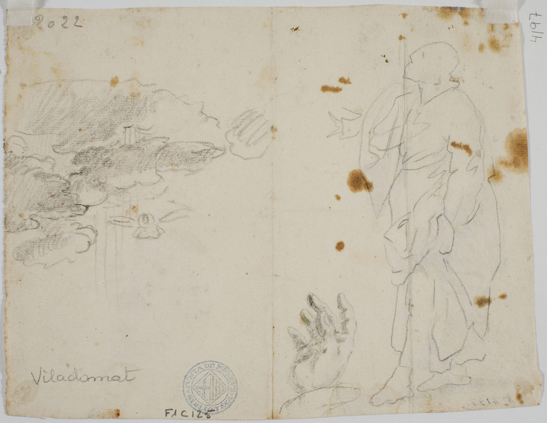 Antoni Viladomat - Estudi per al quadre «Pentecosta» (anvers) / Estudi per al quadre «Pentecosta» (revers) - Cap a 1740 [1]