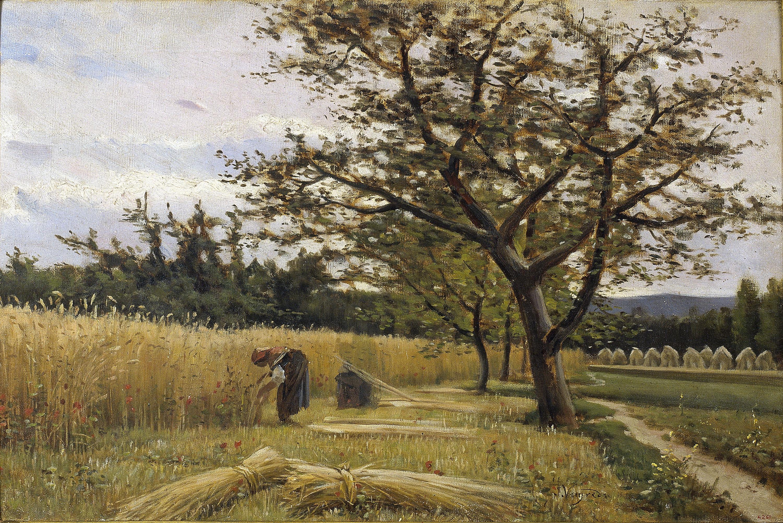Joaquim Vayreda - La sega - Olot, cap a 1881