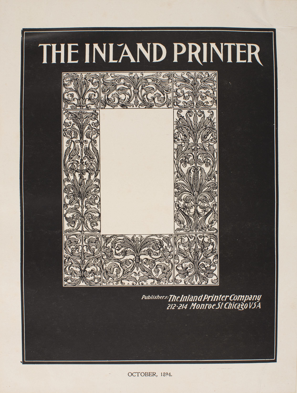 William Henry Bradley - The Inland Printer. October, 1894 - 1894