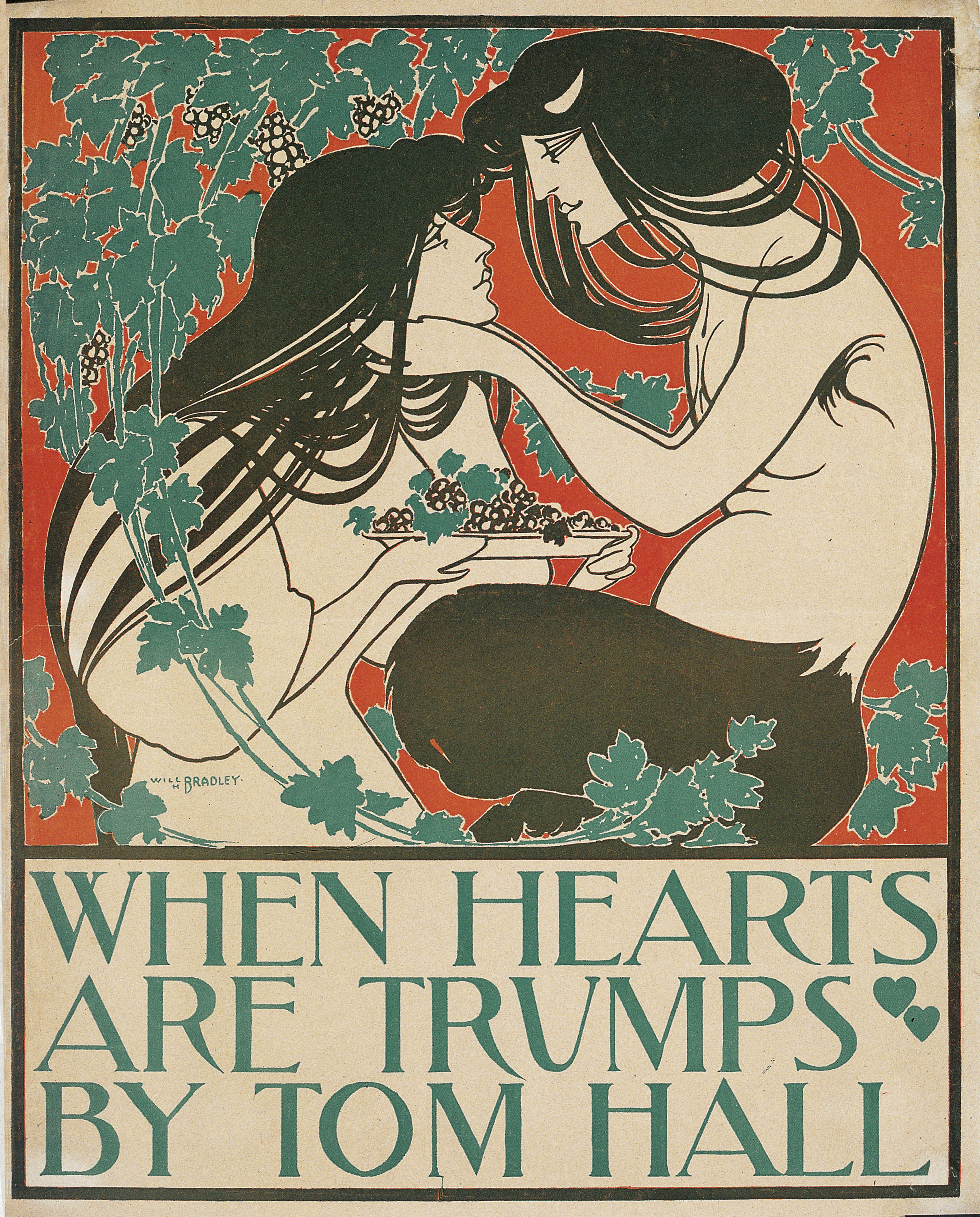William Henry Bradley - When Hearts Are Trumps by Tom Hall - 1894