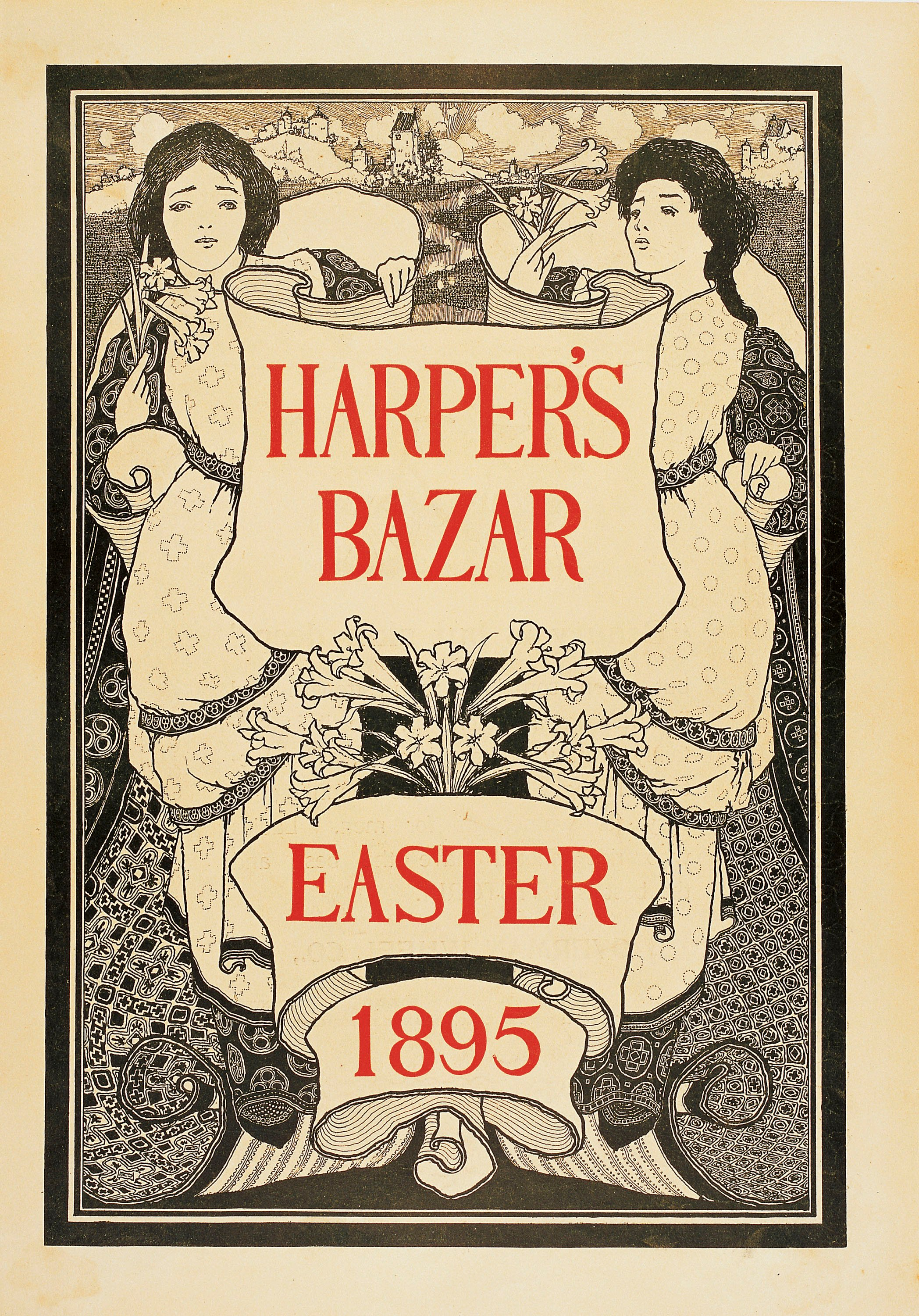 Maxfield Parrish - Harper's Bazar. Easter 1895 - 1895