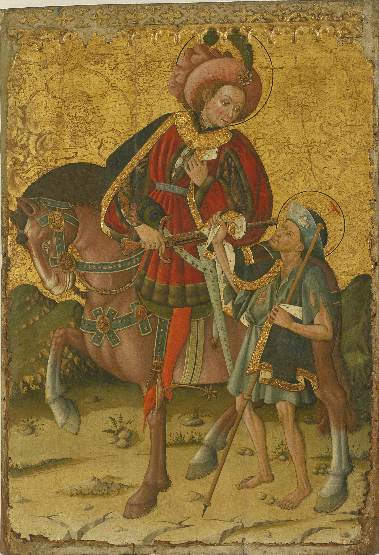 Blasco de Grañén - Sant Martí partint la capa - Cap a 1450