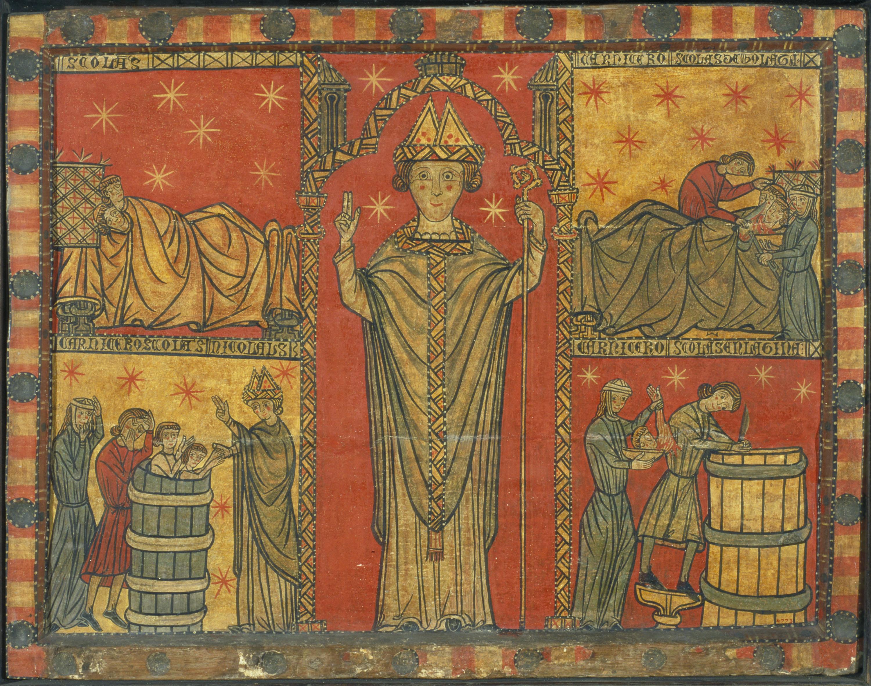 Anònim - Frontal de sant Nicolau - Primera meitat del segle XIV