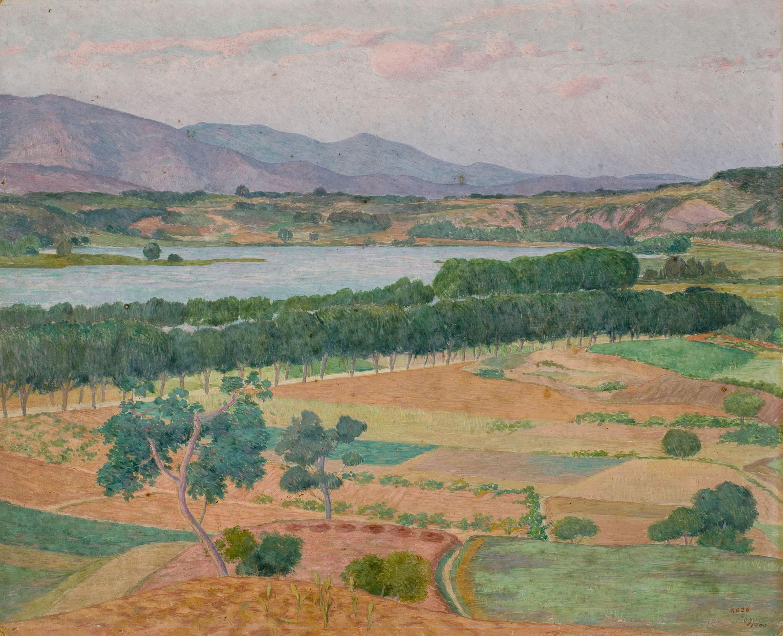 Xavier Nogués - Paisatge de Banyoles - 1905
