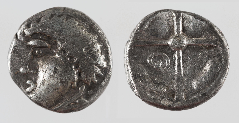 Gàl·lia - Dracma d'imitació de Rhode - Segle III aC