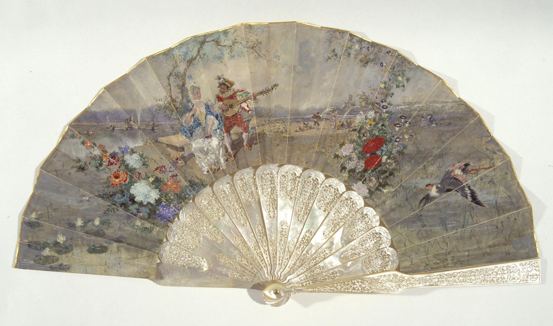 Marià Fortuny - Ventall amb escena galant - París, 1870