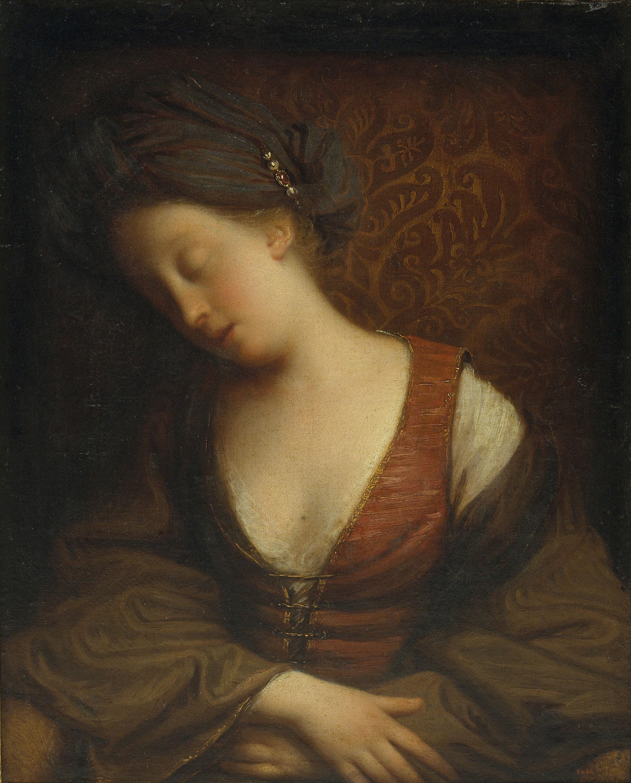 Jean-Baptiste Santerre - Dona jove dormint - Anterior a 1710