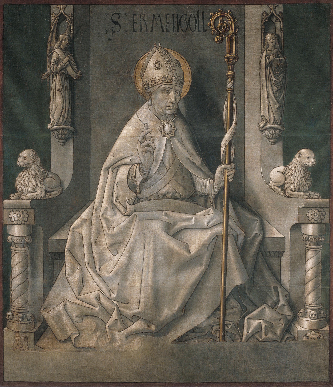 Mestre de la Seu d'Urgell - Sant Ermengol - Cap a 1495-1498