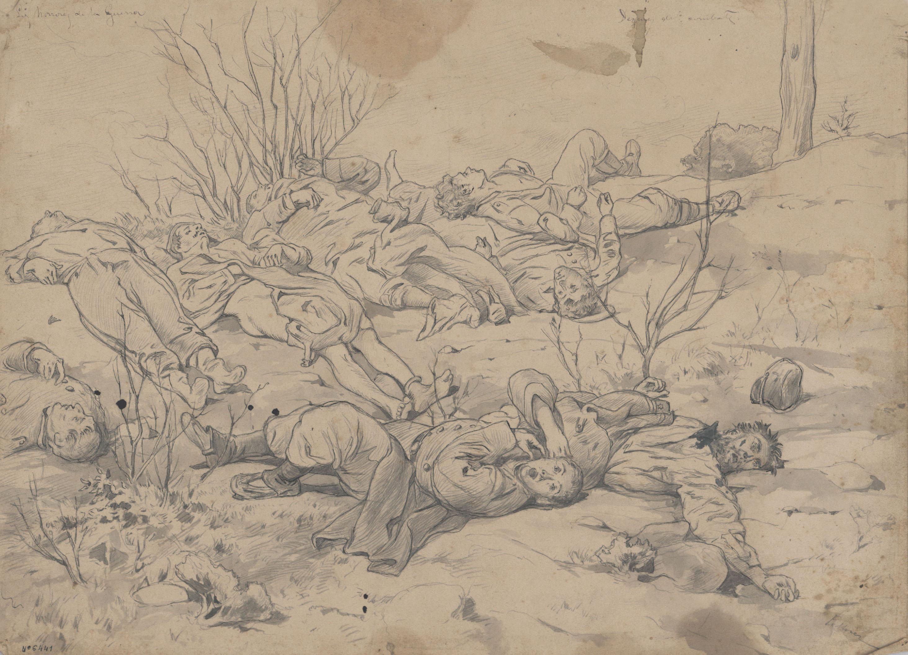 Josep Lluís Pellicer - Los horrores de la guerra - 1876