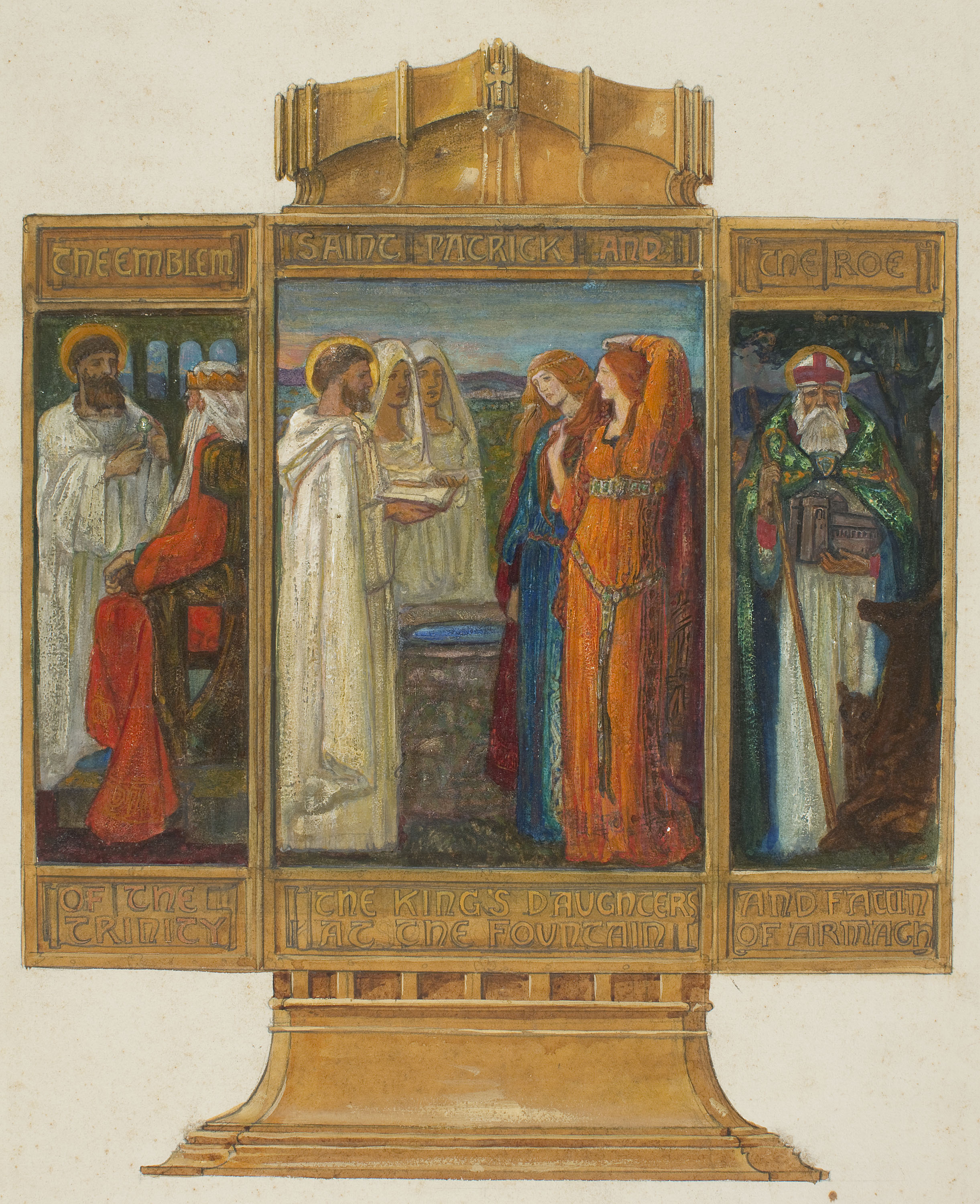 Alexander Fisher - Preparatory study for the 'Enamelled Triptych with Scenes from the Life of Saint Patrick' - 1902